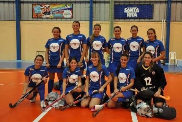 As meninas do Floripa no 1º título feminino indoor