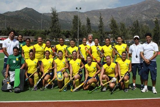 As meninas ficaram com o 4º lugar no Sul-Americano em Santiago.