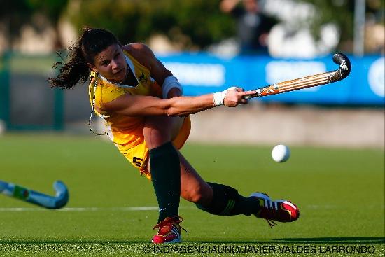 Patricia Boos marcou duas vezes contra a Venezuela