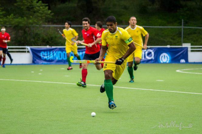 O capitão Bruno Mendonça em ação contra os chilenos