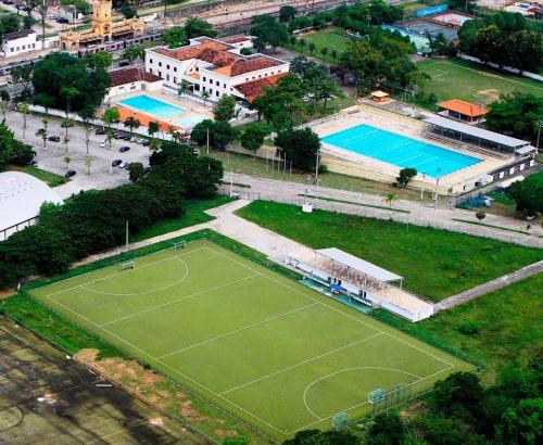 O campo de hóquei em Deodoro. Foto: Ministério do Esporte.