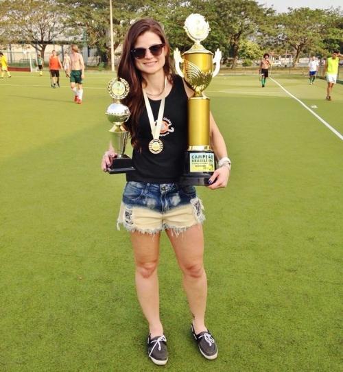 Patrícia Boos foi a artilheira do Brasileirão