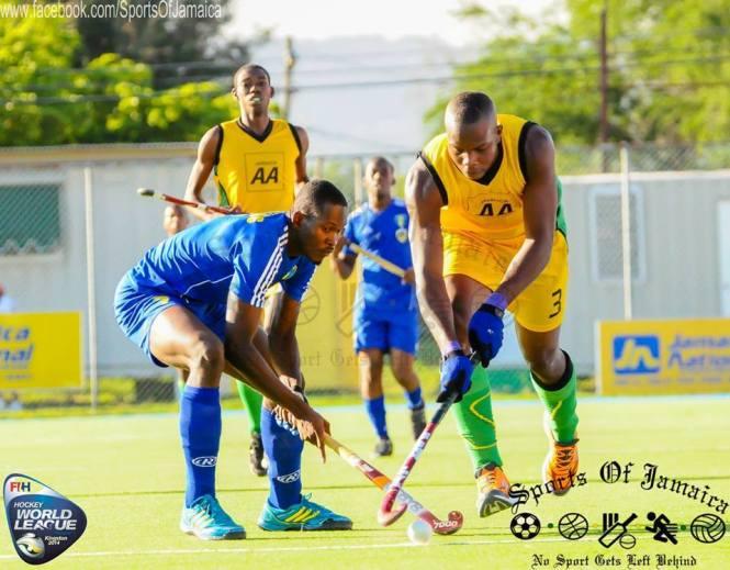 Lance de Jamaica 2 x 1 Barbados pela World League em Kingston.