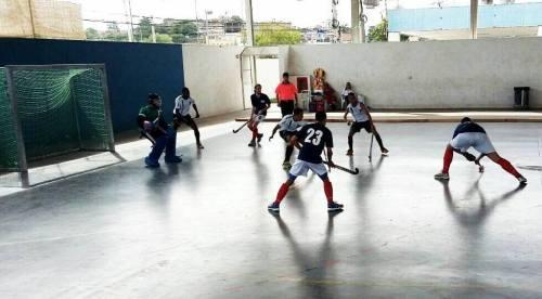 Lance do jogo entre Germânia x Rio Hockey